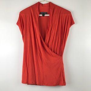 Lauren Ralph Lauren Womens Top Blouse Size M B463